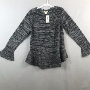 Style & Co Gray Knit Colorblock Pullover Sweater